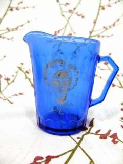 Shirley Temple Cobalt Blue Glass Creamer