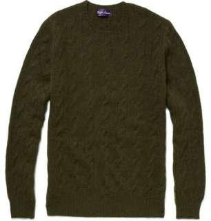 Ralph Lauren Purple Label Cable Knit Cashmere Sweater  MR PORTER