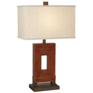 Steps Table Lamp in Grand West Red