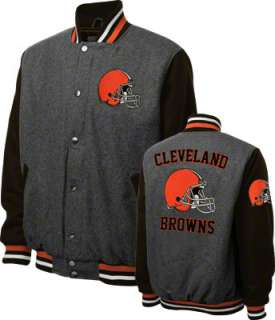 Cleveland Browns Grey Wool Varsity Jacket