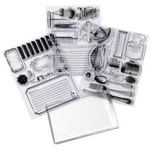 Anna Griffin® In the Kitchen Clear Stamp Set