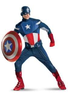 Captain America Costumes Plus Size Avengers Replica Captain America