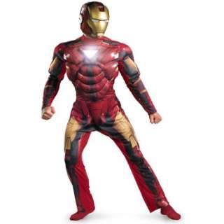 2010) Movie   Iron Man Mark 6 Light Up Deluxe Adult Costume, 69924