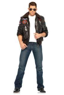 Top Gun Mens Bomber Jacket Set Adult Costume for Halloween   Pure