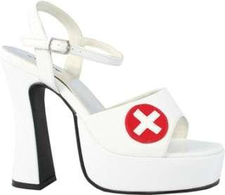 White Sexy Nurse Shoe Sz 8