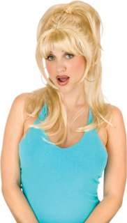 Great Look Includes Long, blonde straight wig with bangs