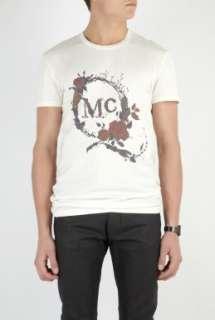 McQ Alexander McQueen  White Rose Thorn Logo T Shirt by McQ Alexander