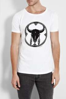 Question Of  White Buffalo Skull O Neck T Shirt by A Question of