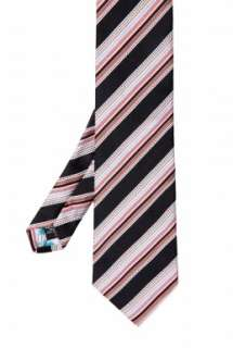 Black Textured Stripe Tie by Paul Smith Accessories   Black   Buy Ties