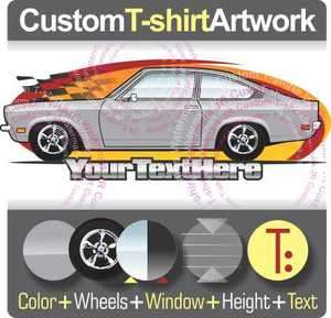 Custom T shirt for 70 78 Chevy Chevrolet Vega Wagon GT V8 Panel