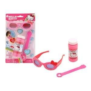 Hello Kitty 3D Bubble Set   Bubbles & 3D Hello Kitty Glasses  Toys