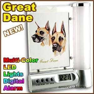 GREAT DANE Photo Frame Digital DOG Alarm Clock Light Kitchen & Dining