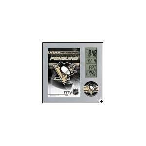 NHL Pittsburgh Penguins Team Desk Clock
