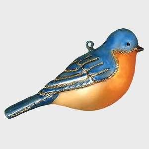 Artisan Hand Blown Glass Bluebird Ornament