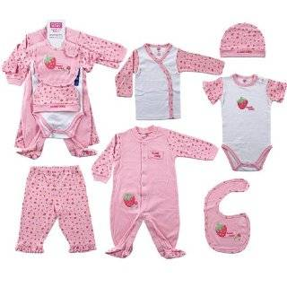 Hudson Baby 6 Piece Sweet Baby Layette Set   Pink, 0 3 Months