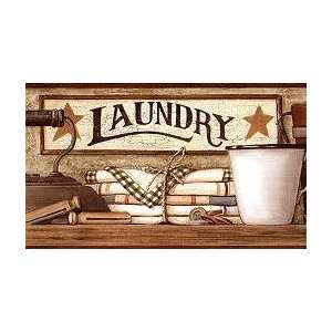 Country Laundry Wallpaper Border: Home & Kitchen