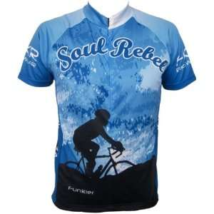 Mens Bike Cycling Short Sleeve Jersey, Blue, Sizes S XXL