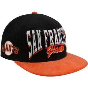 New Era San Francisco Giants Black Orange 9Fifty Corduroy