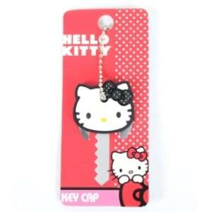 Hello Kitty Black and White Polka Dot Bow Face Key Cap