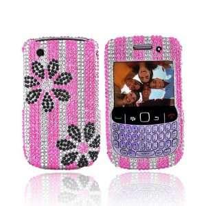 For Blackberry Curve 8520 8530 Bling Case BLACK PINK