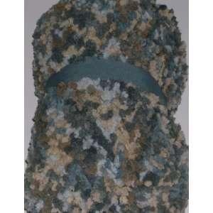 Blue & Tan Plush Micro Bubble Super Soft Throw Blanket