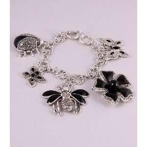 Fashion Jewelry Charm Bracelet with Butterfly Flower