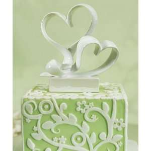Wedding Cake Topper   Love Link Stylized Heart (1 Topper