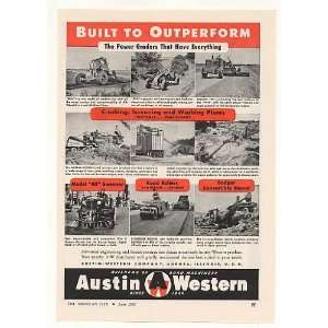 Austin Western Power Graders Crushers Sweeper Print Ad: Home & Kitchen