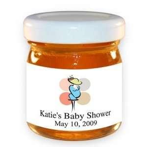 Favors  Modern Polka Dots Personalized Honey Jar Baby Shower Favors