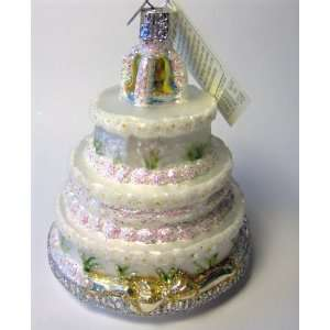 Old World Christmas Ornament Wedding Cake Home & Kitchen