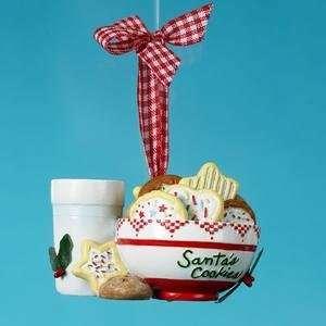 Patch Retro Santas Cookies Christmas Ornament