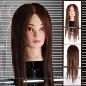 22 80% Real Human Hair Training Practice Head with Claim NEW Beauty