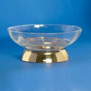 92475O Gold Windisch Round Clear Crystal Soap Dish