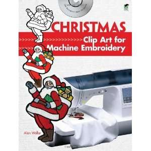 Christmas Clip Art for Machine Embroidery (Dover Clip Art