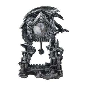 Evil Dragon Pentagram Pendulum Mantel Clock: Home & Kitchen