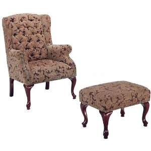 Coaster Furniture Tufted Wing Back Chair w/ Ottoman