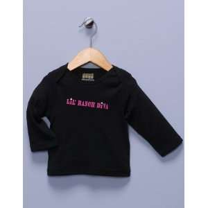 Lil Ranch Diva Black Long Sleeve Shirt Baby