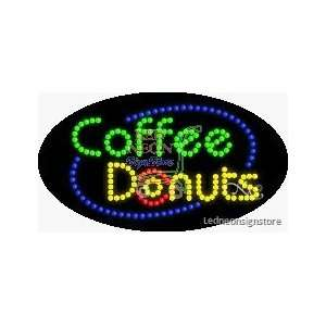 Coffee Donuts LED Sign Office Products