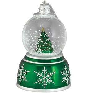 Mr. Christmas Mini Musical Snowglobe Metallic Christmas