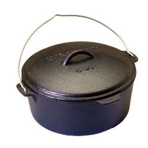 Texsport Pre Seasoned Cast Iron Dutch Oven without Legs   4 Quart