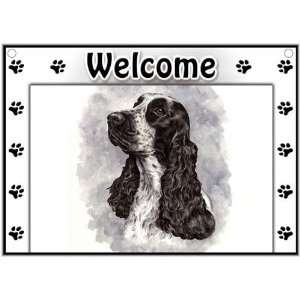 English Cocker Spaniel Welcome Sign Patio, Lawn & Garden