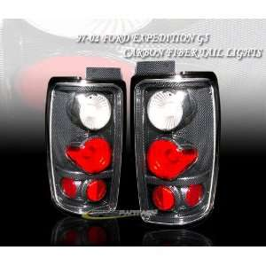 Ford Expedition Tail Lights JDM Carbon Taillights 1997 1998 1999 2000