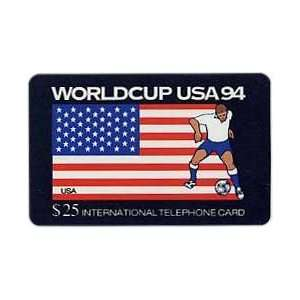 Collectible Phone Card $25. World Cup USA 94 Soccer   USA