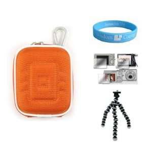 Sized Digital Camera Orange Case for 3rd Generation Flip UltraHD Video