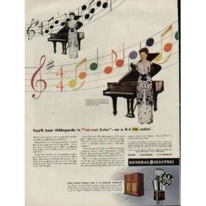 , the Plaza, New York  1944 General Electric FM Radio ad, A1353