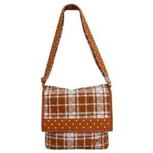 Texas Longhorns Focal Orange Plaid Messenger Bag