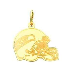 14K Gold NFL Seattle Seahawks Football Helmet Charm Sports & Outdoors