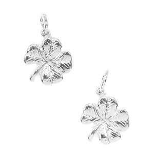 Silver Plated Charm Irish Four Leaf Lucky Clover (2) Arts
