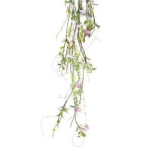 Pink Flowering Blossom Silk Floral Garlands 4   Unlit