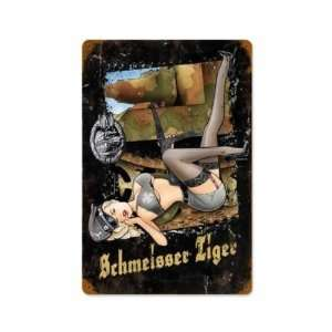 Schmeisser Tiger German Tank Military Vintage Metal Sign